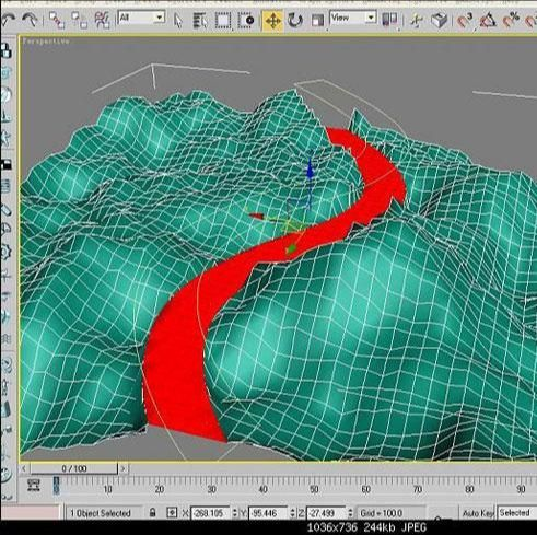 3ds Max实例教程:等高线制作山路建模,PS教程,