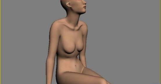 3DMAX制作坐在床上的女孩建模教程(19)