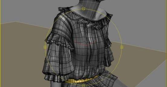 3DMAX制作坐在床上的女孩建模教程(15)