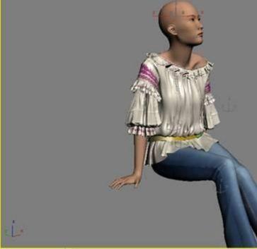 3DMAX制作坐在床上的女孩建模教程(22)