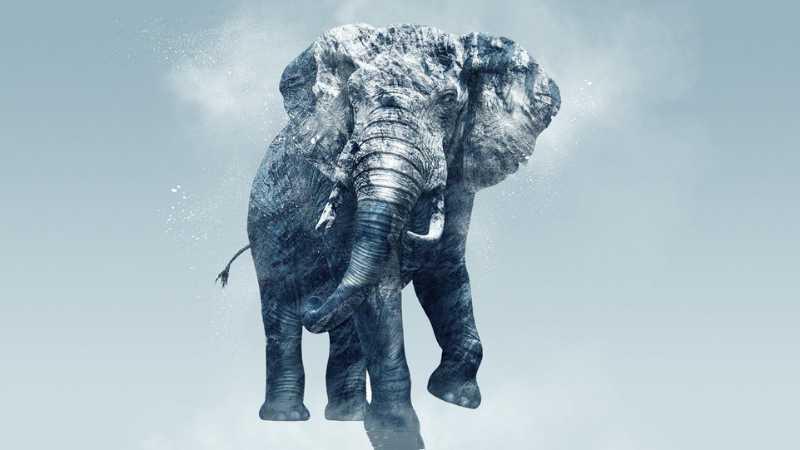 PS打造雪峰质感大象