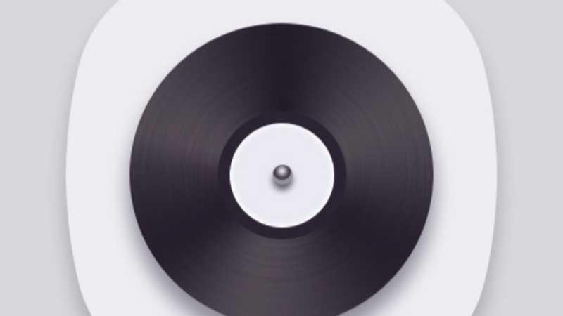 PS简单绘制黑胶唱片图标