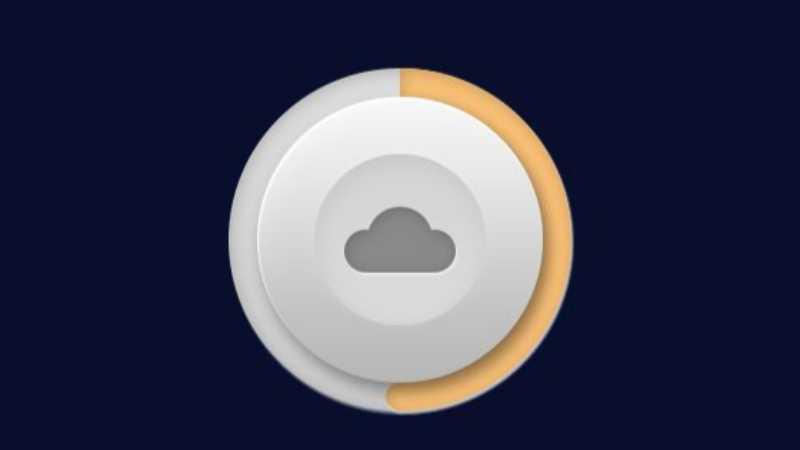 PS鼠绘制作云存储图标