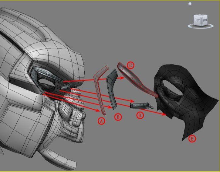 3DsMAX制作超真实的变形金刚建模教程(3)