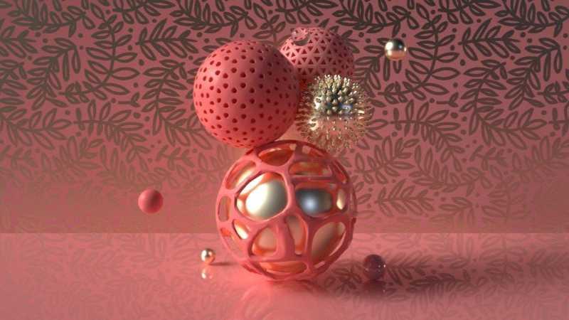 C4D制作创意抽象球体建模教程