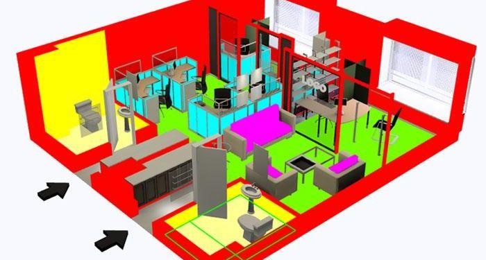 3dsmax制作室内鸟瞰图(9)