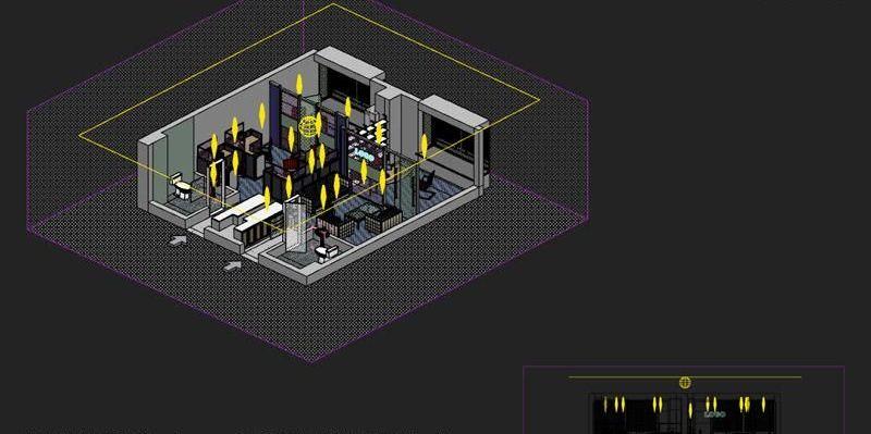 3dsmax制作室内鸟瞰图(5)