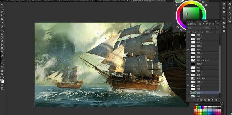 3dsmax海战场景模型制作教程(12)