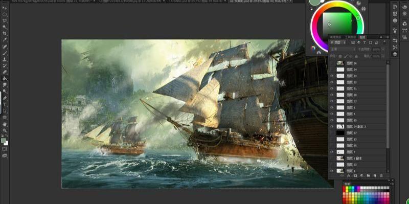 3dsmax海战场景模型制作教程(13)