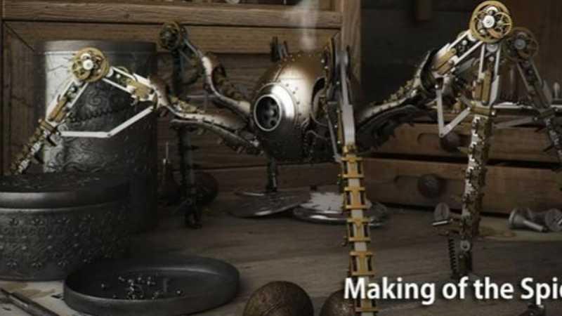 3dsmax机械蜘蛛建模教程