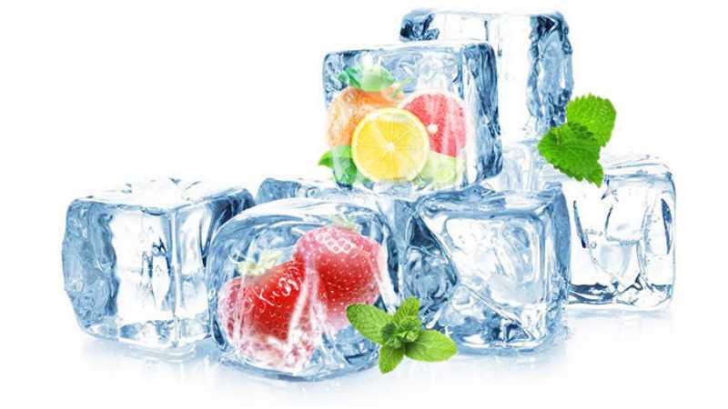 ps怎么把水果合成到冰块里