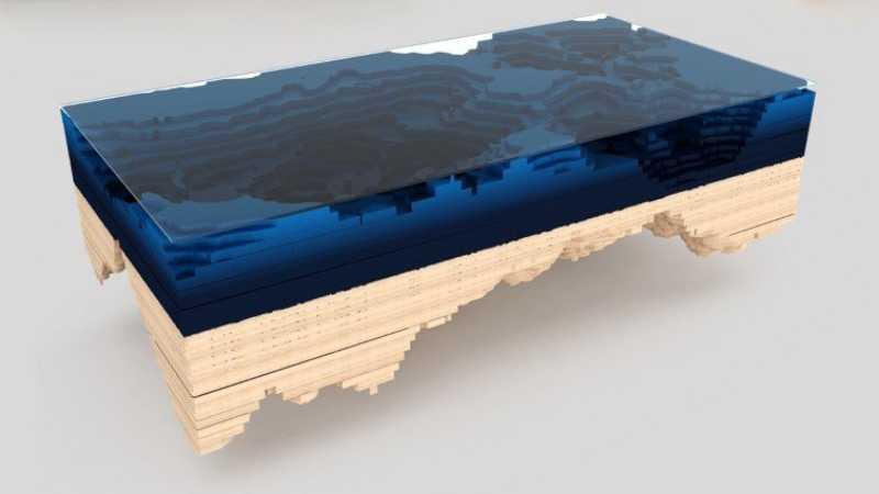 3ds Max海洋地形图造型桌建模