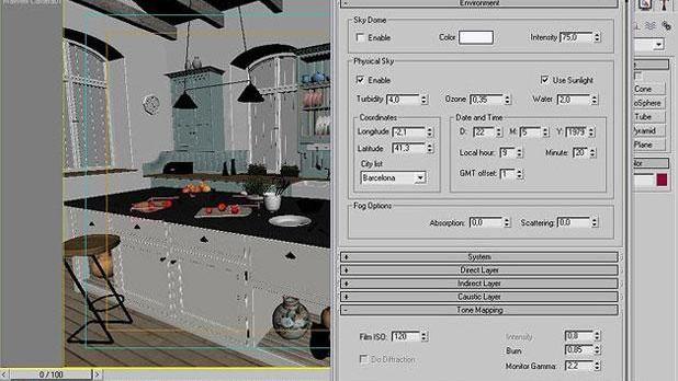 3ds Max打造西式厨房局部模型图(10)