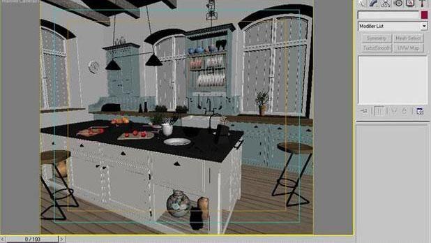 3ds Max打造西式厨房局部模型图(9)