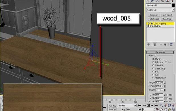 3ds Max打造西式厨房局部模型图(3)