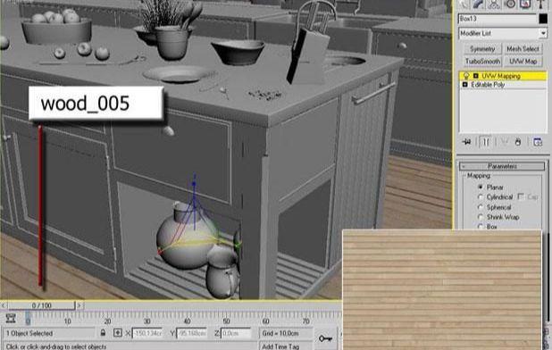 3ds Max打造西式厨房局部模型图(2)
