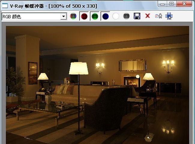 3D MAX欧式客厅夜景渲染教程(55)