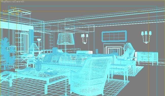 3D MAX欧式客厅夜景渲染教程(4)