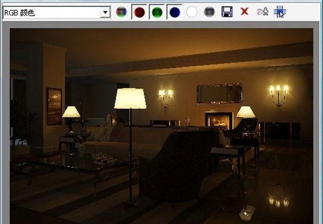 3D MAX欧式客厅夜景渲染教程(52)