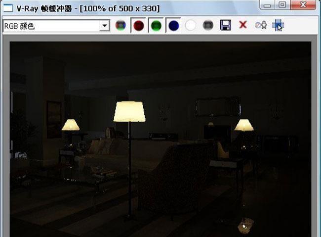 3D MAX欧式客厅夜景渲染教程(45)