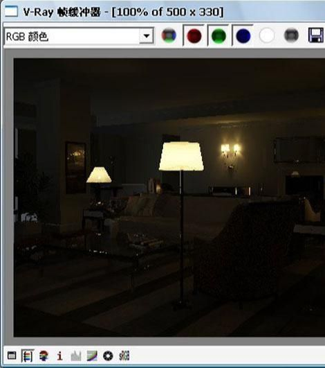 3D MAX欧式客厅夜景渲染教程(48)
