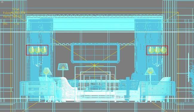 3D MAX欧式客厅夜景渲染教程(46)