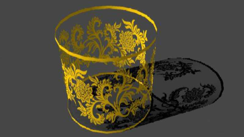maya透明贴图制作透明中式圆筒效果