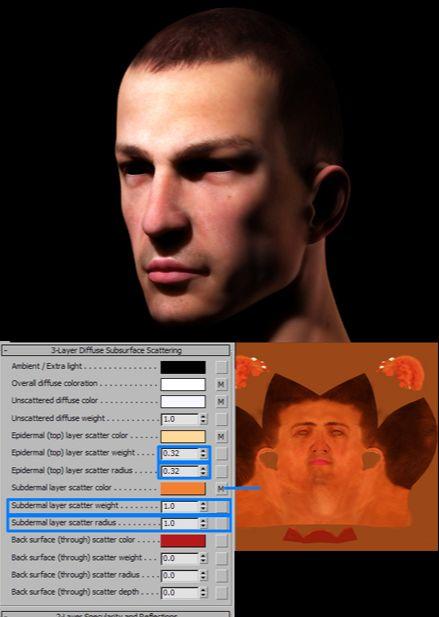3DSMAX的mental ray皮肤3S材质制作(5)