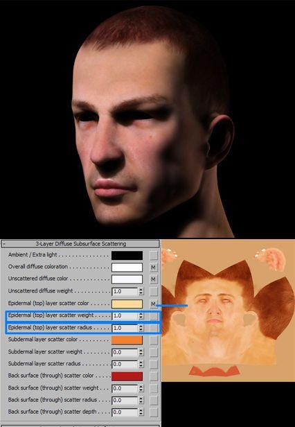 3DSMAX的mental ray皮肤3S材质制作(4)