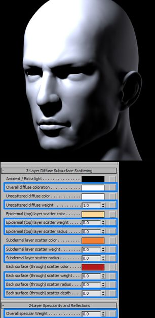 3DSMAX的mental ray皮肤3S材质制作(2)