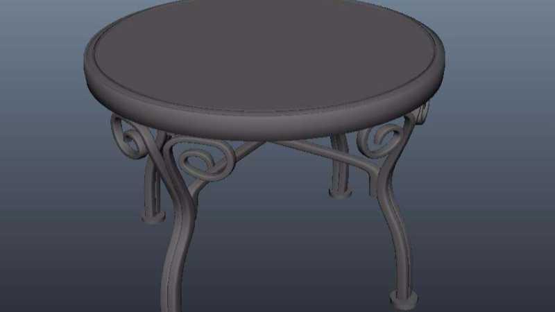 Maya制作漂亮的圆桌模型