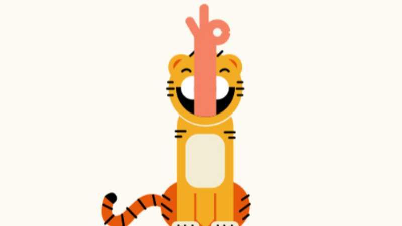 ai设计一只漂亮的扁平化小老虎