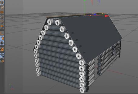 C4D制作户外雪景房子场景教程(6)