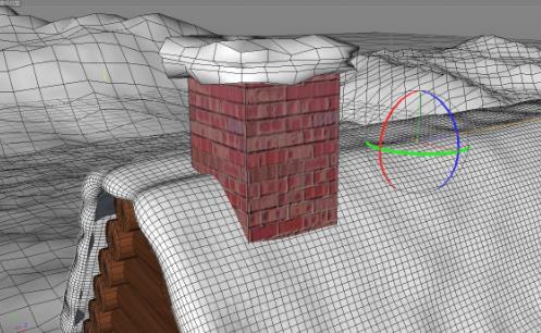 C4D制作户外雪景房子场景教程(10)