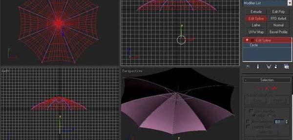 3ds Max制作雨伞建模教程(23)