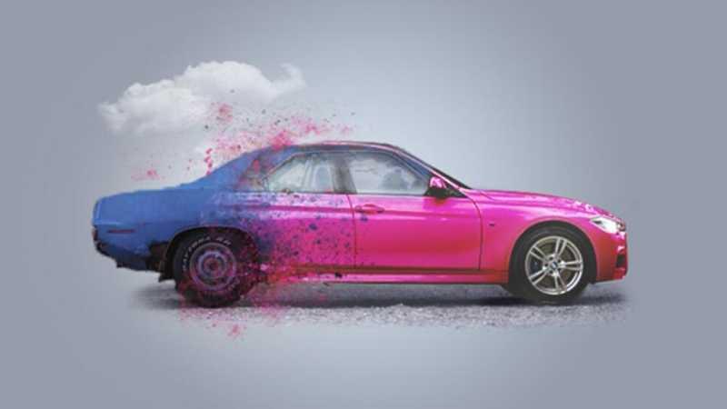 Photoshop合成创意的汽车宣传海报教程
