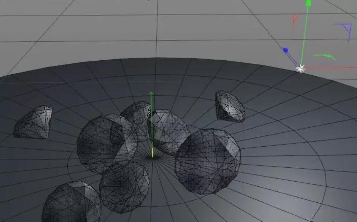 待改-C4D用材质和渲染焦散制作钻石建模(20)