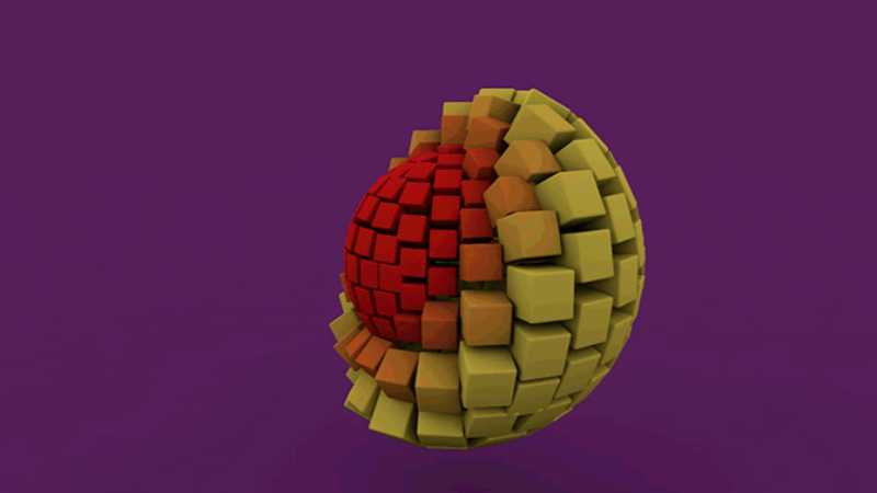 C4D制作出渐变运动动画模型效果