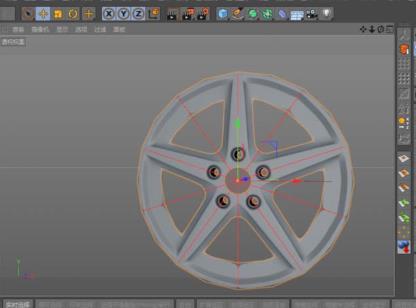 C4D汽车轮毂建模渲染方法(5)