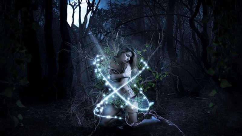 ps cs6合成森林精灵美女场景教程