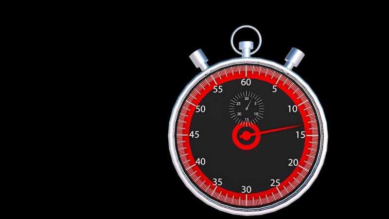 C4D制作金属秒表模型