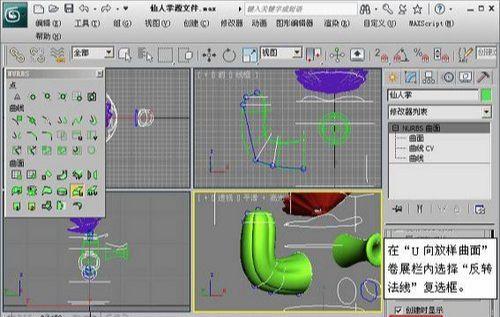 3DMAX NURBS仙人掌建模教程(5)