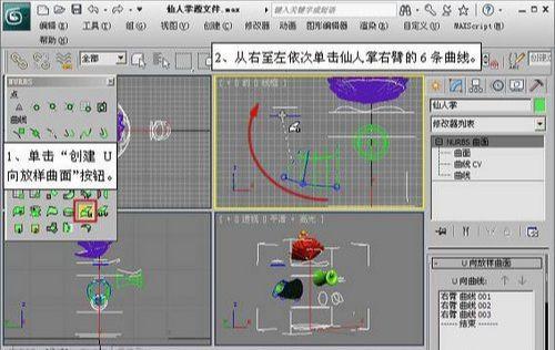 3DMAX NURBS仙人掌建模教程(3)