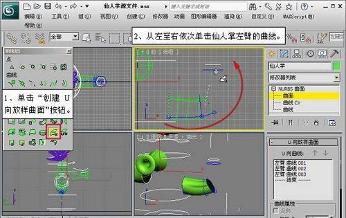 3DMAX NURBS仙人掌建模教程(11)