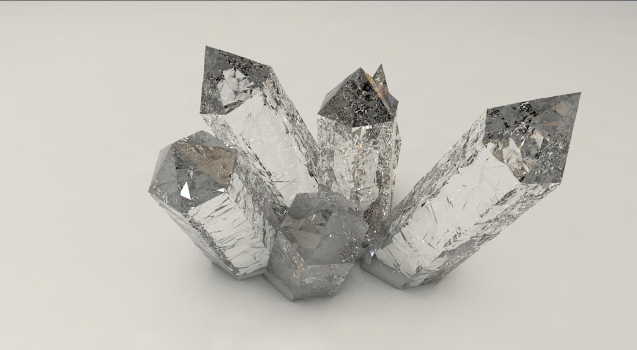 待改-C4D如何做矿石水晶