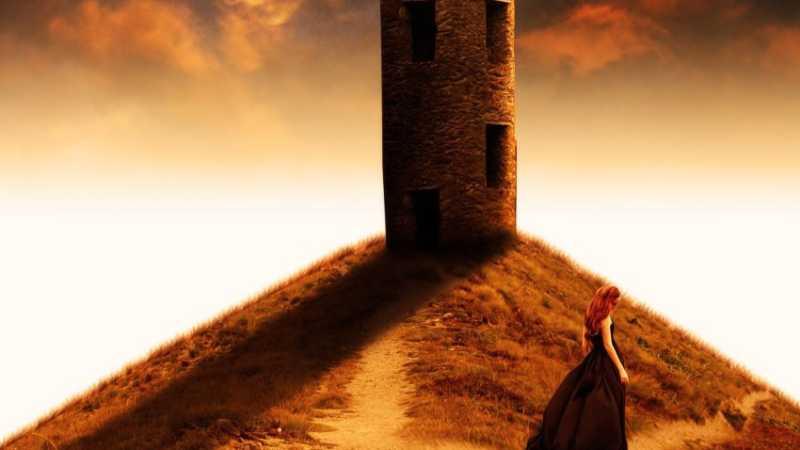 ps合成山坡上的塔楼场景