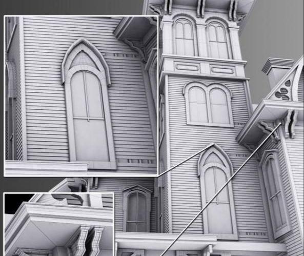 3dsmax时光雕琢的古老建筑建模(1)