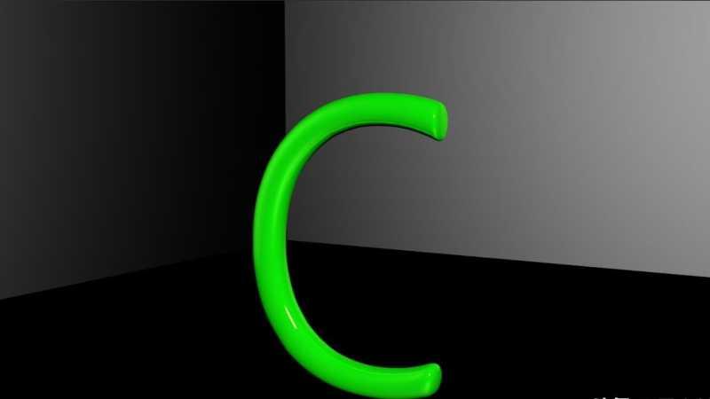 C4D立体字怎么建模