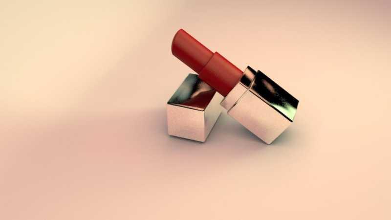 C4D制作逼真的口红模型