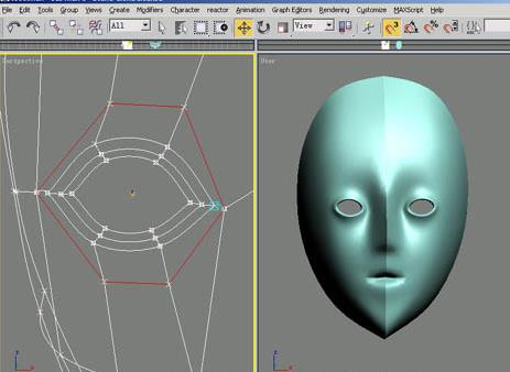 3dsmax角色头部建模教程(4)